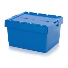 Ящик пластиковый MBD8642 с крышкой 800х600х440мм