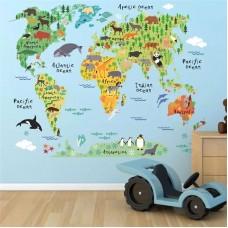 Настенная наклейка Карта мира