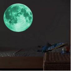 Настенная наклейка Луна 3D