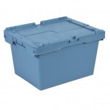 Ящик пластиковый N4323-ALC с крышкой 400х300х240мм маренго