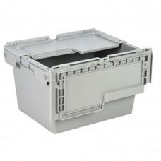 Ящик пластиковый N4323-ALC с крышкой 400х300х240мм серый