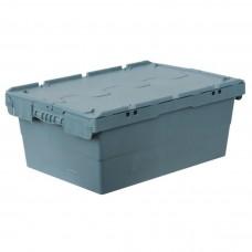 Ящик пластиковый N6423-ALC с крышкой 600х400х240мм серый