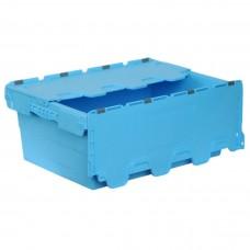 Ящик пластиковый N6423-ALC с крышкой 600х400х240мм голубой