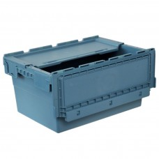 Ящик пластиковый N6428-ALC с крышкой 600х400х295мм маренго