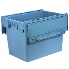 Ящик пластиковый N6442-ALC с крышкой 600х400х435мм маренго