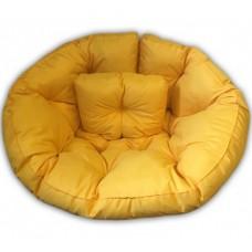 Кресло-трансформер, желтый, XL, велюр